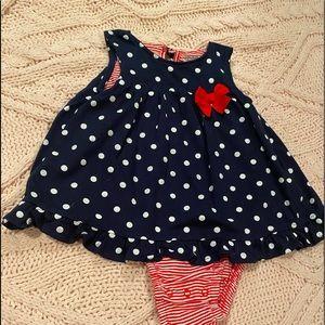 Red white & blue onesie 18M